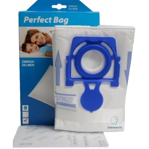 Купить Мешки Zelmer 919, 01z014, 2750 в наборе Worwo Perfect Bag ZMB02K для пылесосов в Украине недорого