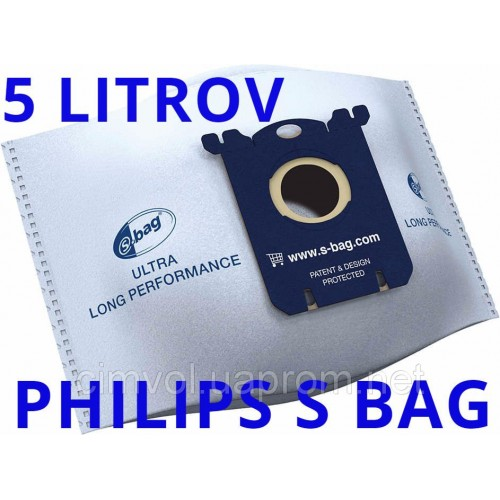 Купить Мешки Philips FC8027/01 s bag Ultra Long Performance для пылесосов в Украине недорого